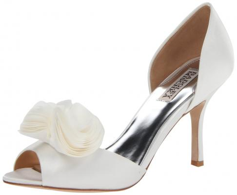 Thora D Orsay Pump White Satin